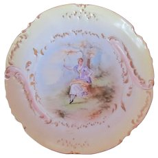 Limoges Plate Barny & Rigoni Antique Rare Mark Hand Painted Artist Signed Lucas