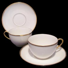 Limoges Cup Saucer Two Sets T&V Tressemann & Vogt Rare LaCloche Mark c.1907