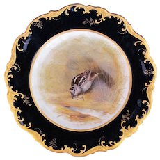 Antique Game Bird Plate c.1862 Brown-Westhead Moore Woodcock Artist Signed