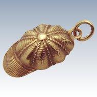 Vintage 10K Gold Equestrian Jockey Cap Hat Charm 1930s