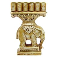 Vintage Art Deco Schafer & Vater German Figural Elephant Cigarette Holder Figurine