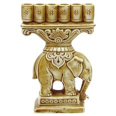 Vintage Art Deco Schafer & Vater German Figural Elephant Cigarette Holder Figurine