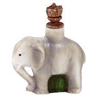 Vintage Figural Elephant German Crown Top Perfume Bottle 5911