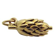 Vintage 14K Gold 3D Bunch of Bananas Charm