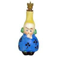 Vintage Goebel Little Girl German Crown Top Figural Perfume Bottle