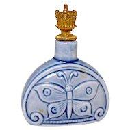 Art Deco Era Schafer & Vater Butterfly German Crown Top Perfume Bottle