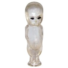 Vintage Art Deco Kewpie Baby German Figural Glass Perfume Bottle
