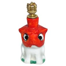 Vintage Bulldog Puppy German Crown Top Dog Perfume Bottle