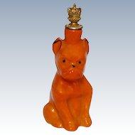 """Vintage Devilish """"Bulldog"""" German Crown Top Figural Pefume Bottle"""