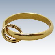Vintage 14K Yellow Gold Baby Ring Band Charm Krementz & Co. 1930s