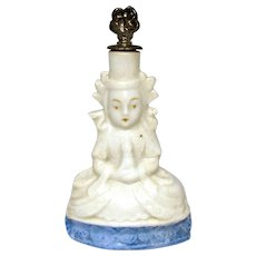 Vintage Hindu God German Crown Top Figural Perfume Bottle