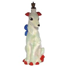 Vintage Tall Luster Dog German Crown Top Perfume Bottle