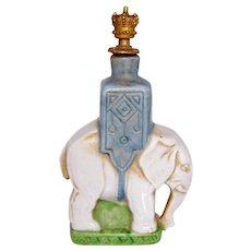 Vintage Elephant with Howdah German Crown Top Figural Perfume Bottle