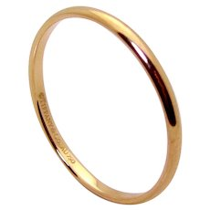 Authentic Tiffany & Co. 18K 750 Rose Gold Classic Band Ring Size 12