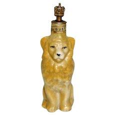 Vintage Art Deco Muguet Lion German Crown Top Perfume Bottle