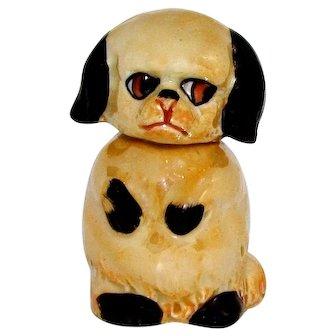 Vintage Blossom Time Puppy Dog German Figural Perfume Bottle