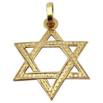 Vintage 14K Gold *Star of David* Charm/Pendant