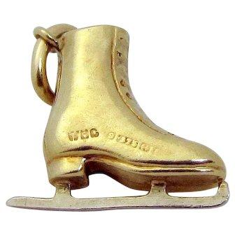 Vintage 9ct. Gold 3D *Ice Skate* Charm