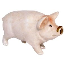 Vintage Art Deco Pig German Figural Perfume Bottle