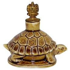 Vintage Schafer & Vater Turtle German Crown Top Perfume Bottle