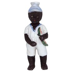 Early 1910s Black Boy with Watermelon Naughty Squirter German Figural Perfume Bottle