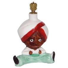 Vintage Sitting Arabian Genie Man German Crown Top Perfume Bottle