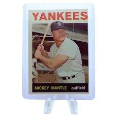1964 Topps #50 Mickey Mantle NY Yankees Baseball Card EX