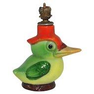 Vintage Woodpecker German Crown Top Figural Perfume Bottle