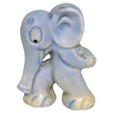Vintage Art Deco Blue Elephant Character Japan Porcelain Figurine