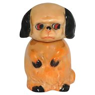 Vintage Art Deco Blossom Time Puppy Dog German Figural Perfume Bottle