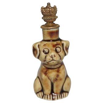 Schafer & Vater Googly Eye Puppy Dog German Crown Top Perfume Bottle