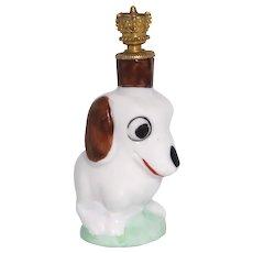 Vintage Art Deco Dachshund Dog German Crown Top Perfume Bottle
