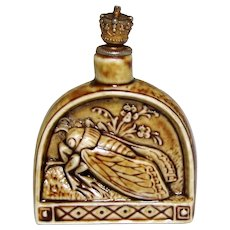 Rare Schafer & Vater Cicada Insect German Crown Top Perfume Bottle