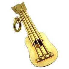 Vintage 19K Gold 3D Ukulele Charm