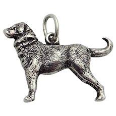 Vintage Sterling Silver 3D Shar Pei Lab Mix Dog Charm
