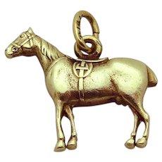 Vintage Art Deco Era 14K Gold 3D Equestrian Horse Charm