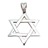 Wonderful Large Sterling Silver Star of David Pendant