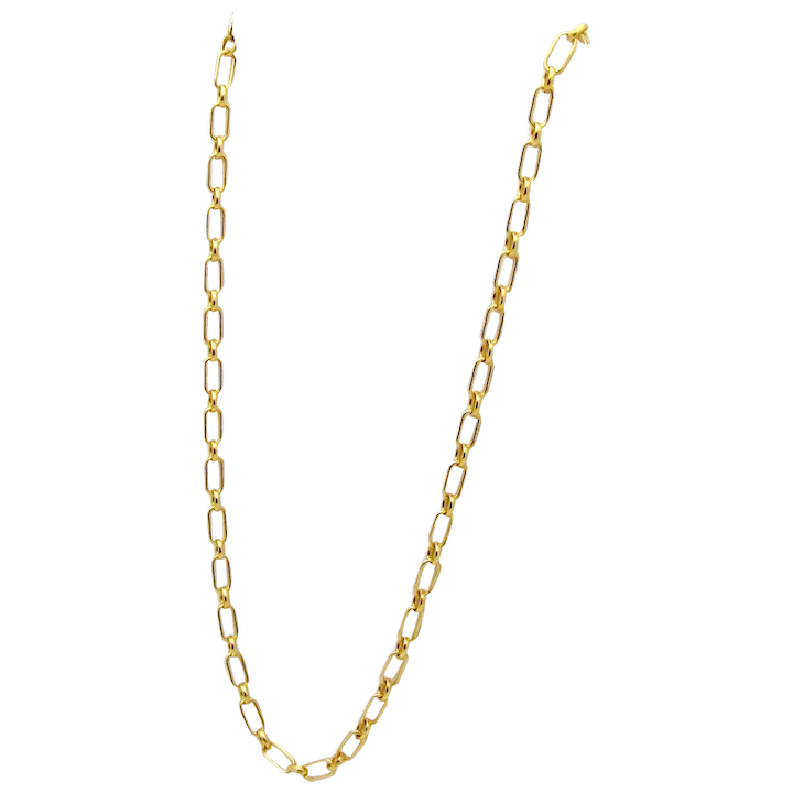 1d8e01acbf195 Authentic Tiffany & Co. 18K Yellow Gold 24 Oval Link Chain Necklace 2.5mm.