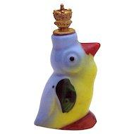 Vintage Bluebird German Crown Top Figural Perfume Bottle L&R