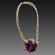 Vintage 14 Karat Gold Amethyst Necklace