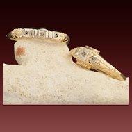 Vintage 10 Karat Gold Wedding Ring Set