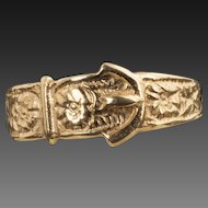 Vintage 9 Karat Gold Buckle Ring
