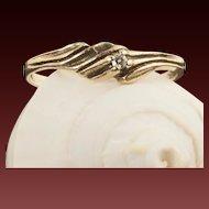 Vintage 10 Karat Gold Diamond Ring