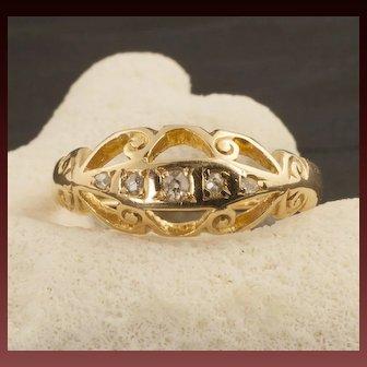 Vintage 18 Karat Gold And Diamond Ring, Circa 1916