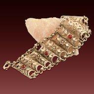 Vintage Sterling Silver Filigree Bracelet