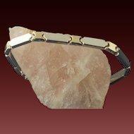Vintage Sterling Silver And 14 Karat Gold Bracelet