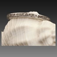 Vintage Art Deco 18 Karat White Gold Diamond Eternity Band