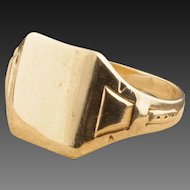 Vintage Art Deco 10 Karat Gold Signet Ring