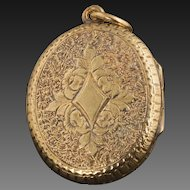 Antique Victorian 14 Karat Gold Locket