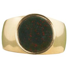 Vintage 14 Karat Gold Bloodstone Ring
